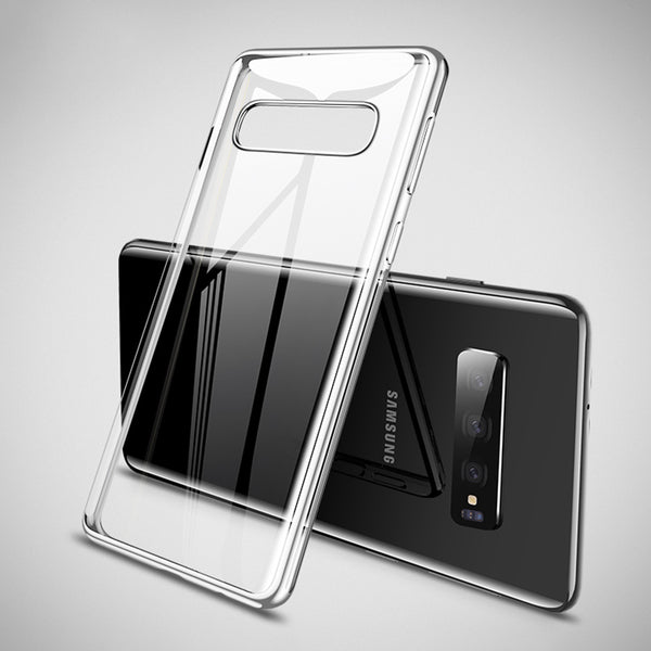 Silver Trim Clear Case (Galaxy S10/S10e/S10+)