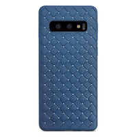 Navy Leather Weave Case (Galaxy S10/S10e/S10+)