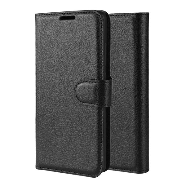 Black Leather Wallet Case (Galaxy S10/S10e/S10+)