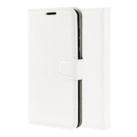 White Leather Wallet Case (Galaxy S10/S10e/S10+)