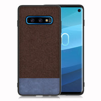 Brown / Navy Cloth Case (Galaxy S10/S10e/S10+)
