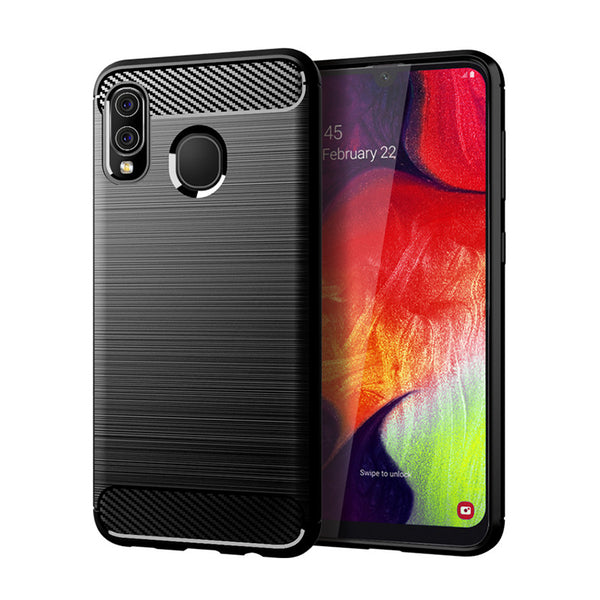 Black Brushed Metal Case (Galaxy A20)