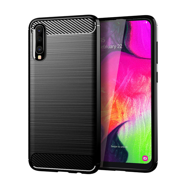 Black Brushed Metal Case (Galaxy A70)