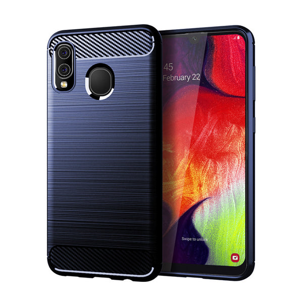 Navy Brushed Metal Case (Galaxy A20)