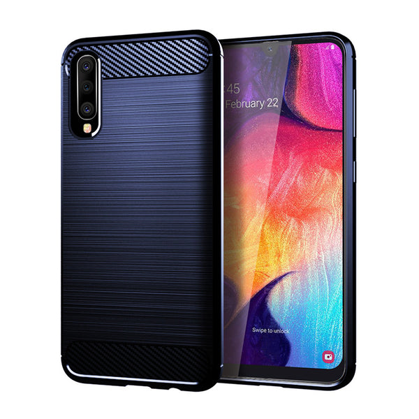 Navy Brushed Metal Case (Galaxy A50)