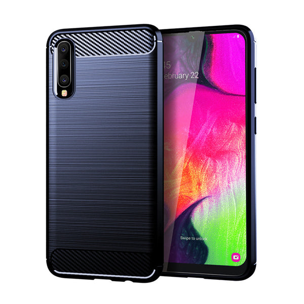 Navy Brushed Metal Case (Galaxy A70)