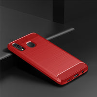 Red Brushed Metal Case (Galaxy A20)