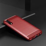 Red Brushed Metal Case (Galaxy A50)