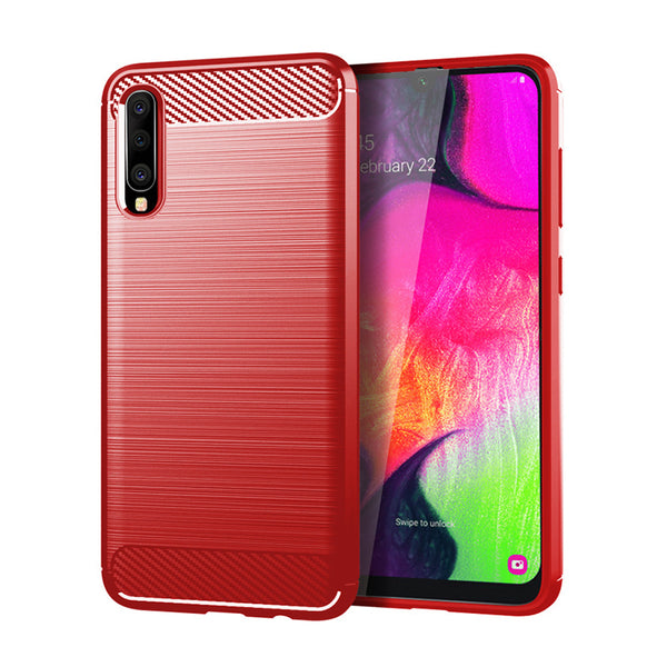 Red Brushed Metal Case (Galaxy A70)