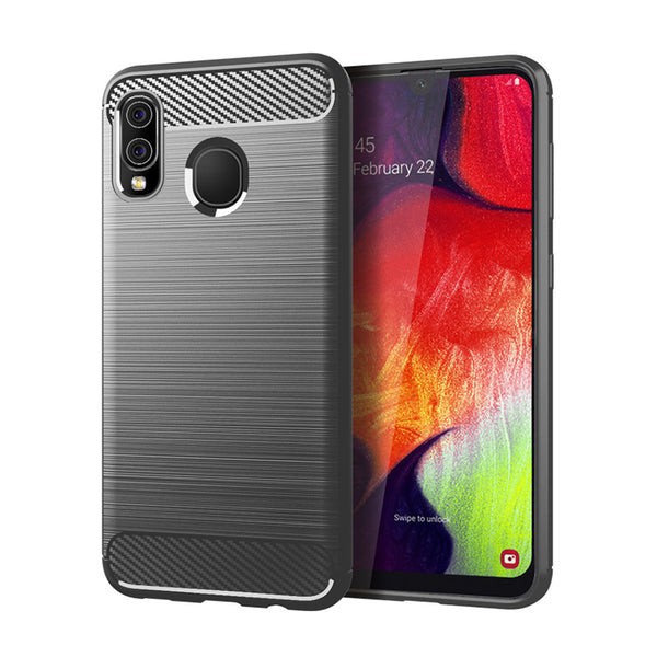 Grey Brushed Metal Case (Galaxy A20)