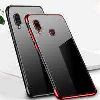 Red Trim Clear Case (Galaxy A20)