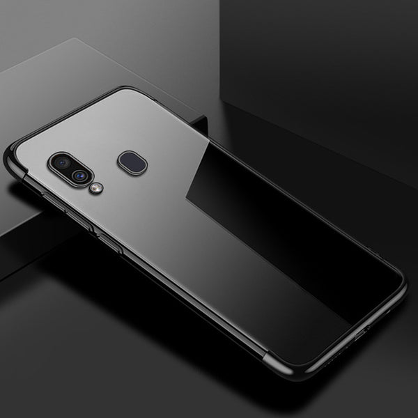 Black Trim Clear Case (Galaxy A20)