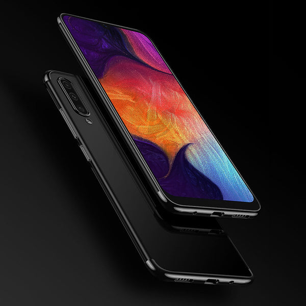 Black Trim Clear Case (Galaxy A50)