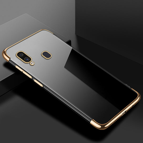 Gold Trim Clear Case (Galaxy A20)