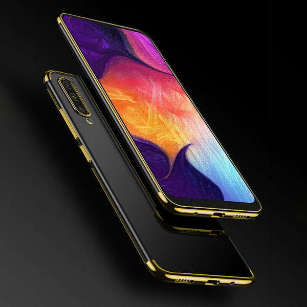 Gold Trim Clear Case (Galaxy A50)
