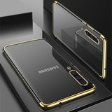 Gold Trim Clear Case (Galaxy A70)