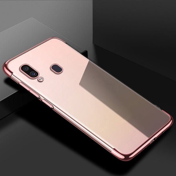 Rose Gold Trim Clear Case (Galaxy A20)