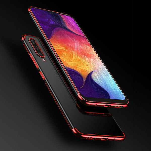 Red Trim Clear Case (Galaxy A50)