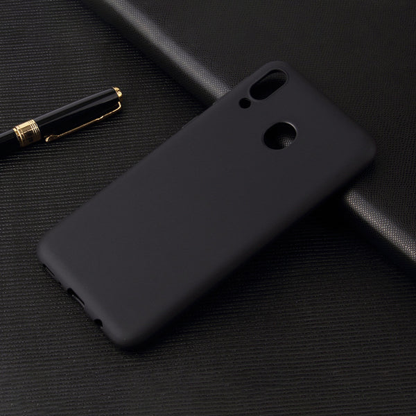 Matte Black Soft Case (Galaxy A20)