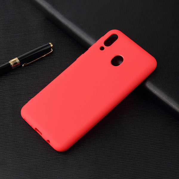 Matte Red Soft Case (Galaxy A20)