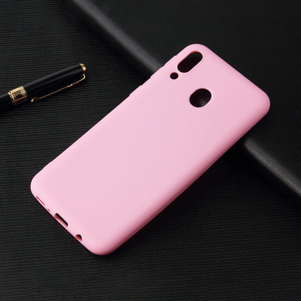 Matte Pink Soft Case (Galaxy A20)