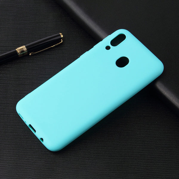 Matte Mint Blue Soft Case (Galaxy A20)