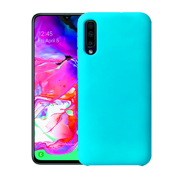 Matte Mint Blue Soft Case (Galaxy A70)