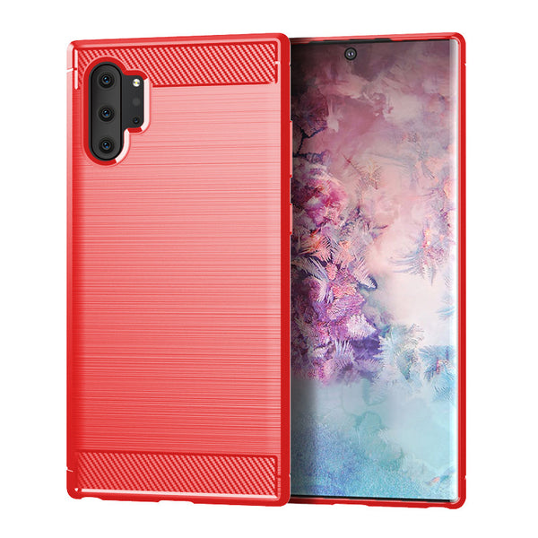Red Brushed Metal Case (Galaxy Note 10+)