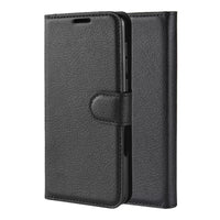 Black Leather Wallet Case (Galaxy Note 10+)