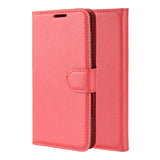 Red Leather Wallet Case (Galaxy Note 10)