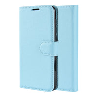 Light Blue Leather Wallet Case (Galaxy Note 10+)
