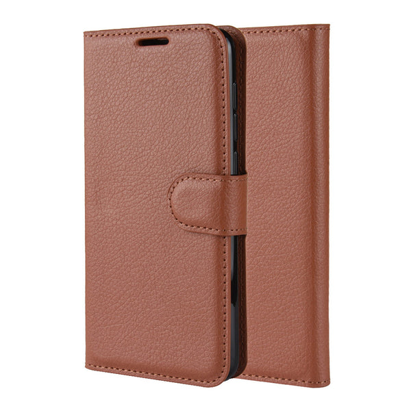 Brown Leather Wallet Case (Galaxy A70)