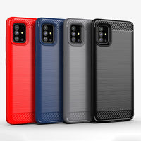 Red Brushed Metal Case (Galaxy A51)