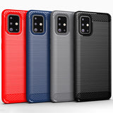 Red Brushed Metal Case (Galaxy A71)
