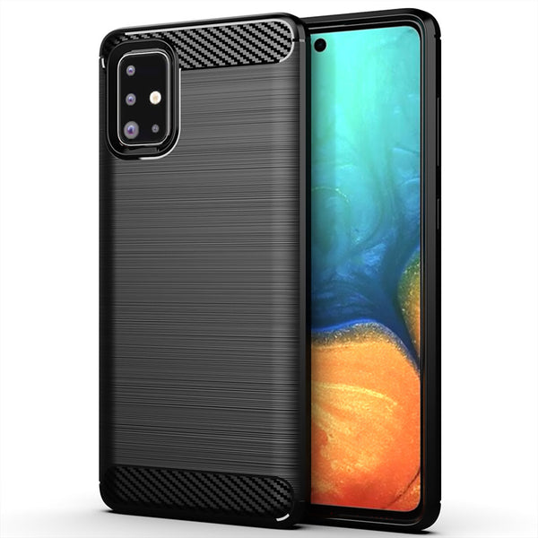 Black Brushed Metal Case (Galaxy A71)