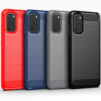 Red Brushed Metal Case (Galaxy S20)