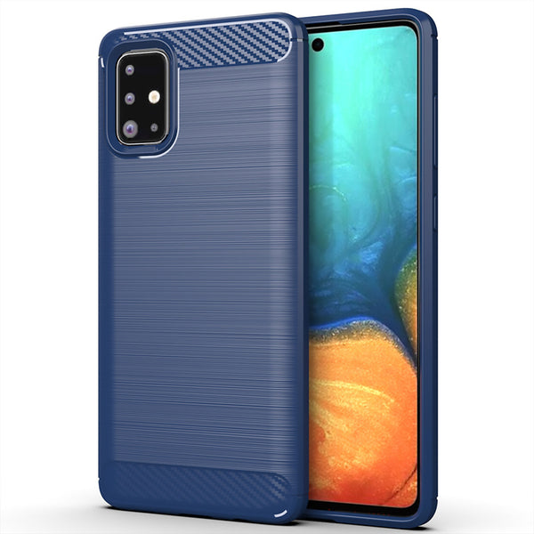 Navy Brushed Metal Case (Galaxy A71)