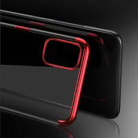 Black Trim Clear Case (Galaxy A71)