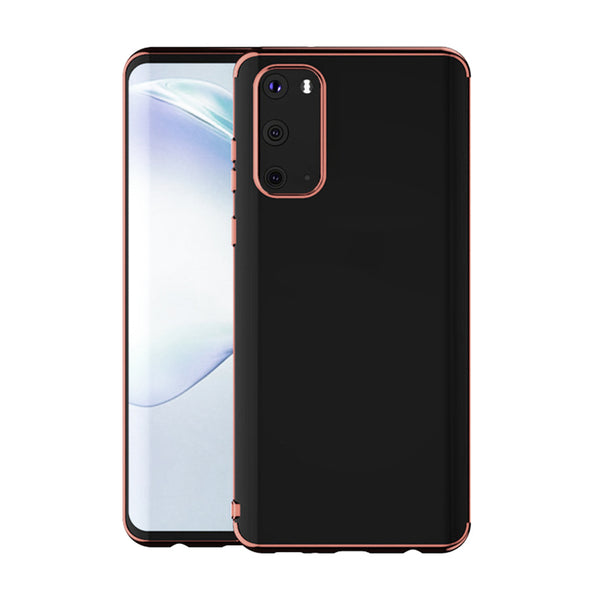 Rose Gold Trim Clear Case (Galaxy A71)