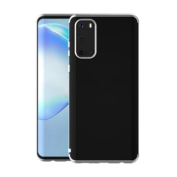 Silver Trim Clear Case (Galaxy A71)