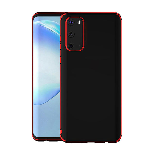 Red Trim Clear Case (Galaxy A71)
