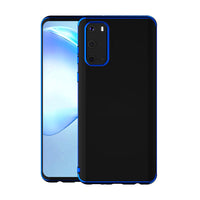 Blue Trim Clear Case (Galaxy A71)