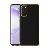 Gold Trim Clear Case (Galaxy S20)