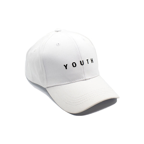 YOUTH White Classic Style Cap