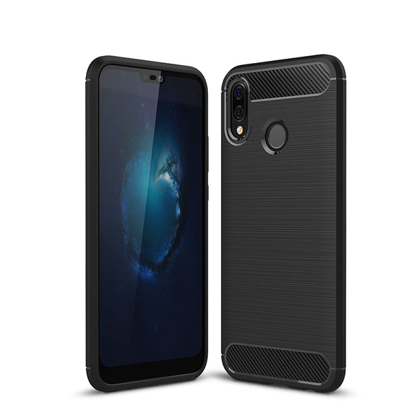 Black Brushed Metal Case (Huawei P20 Lite)