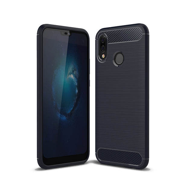 Navy Brushed Metal Case (Huawei P20 Lite)