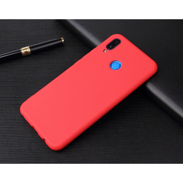 Matte Red Soft Case (Huawei P20 Lite)