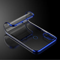 Blue Trim Clear Case (Huawei P20 Lite)