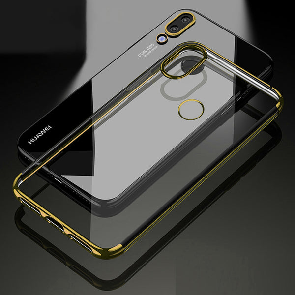 Gold Trim Clear Case (Huawei P20 Lite)
