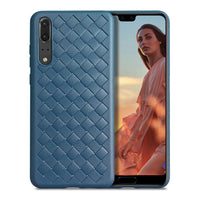 Navy Leather Weave Case (Huawei P20)